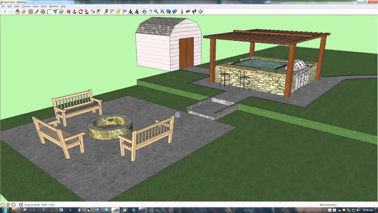 Look what you can design with google sketchup my new for My garden 3d