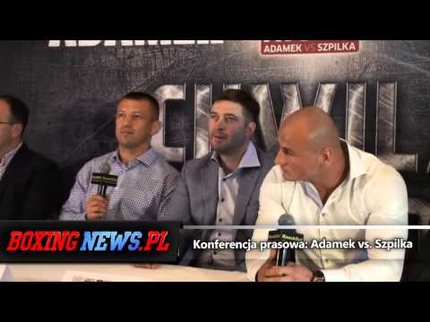 Konferencja prasowa przed walką Adamek vs. Szpilka [HD] (8.9.14)