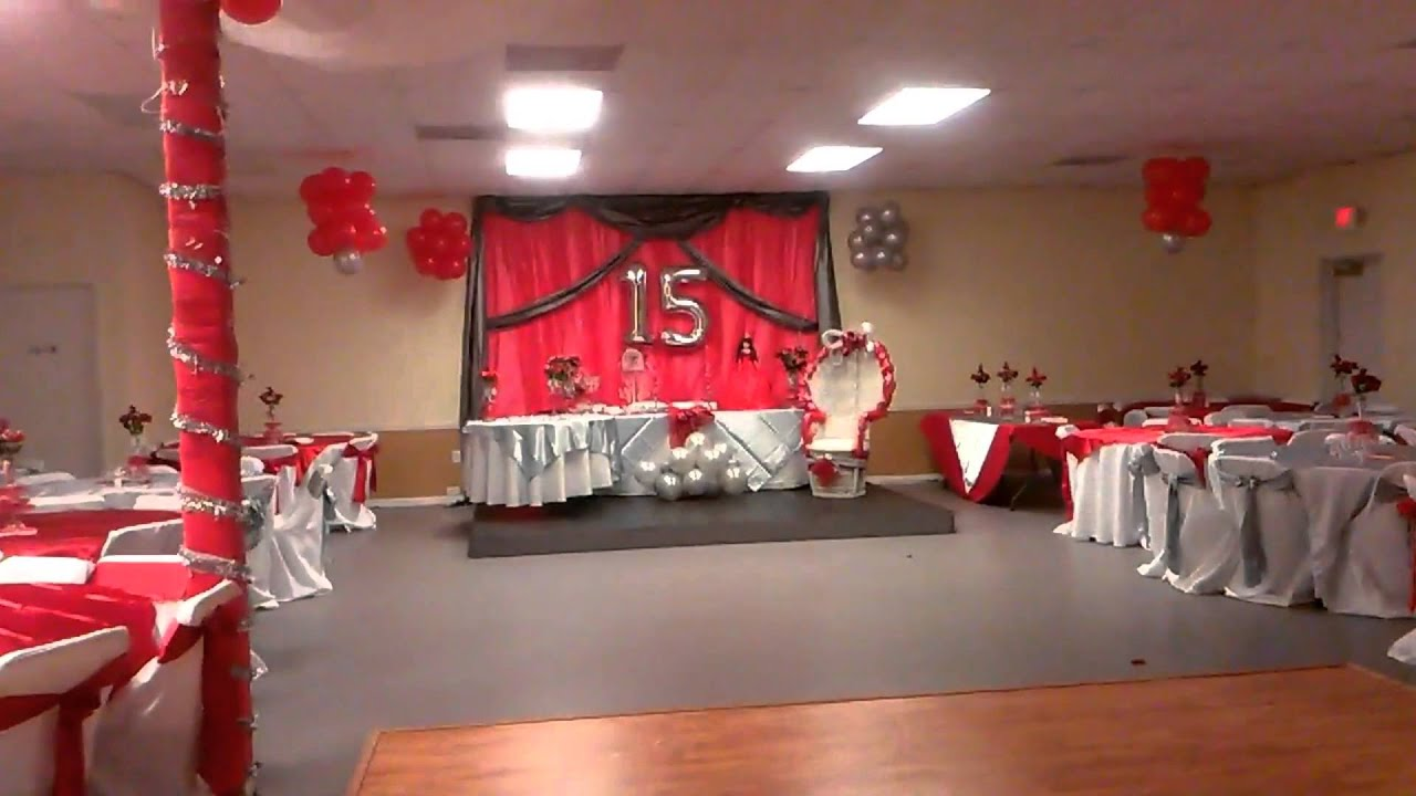 Party hall 15s decoration youtube for Party hall decoration ideas