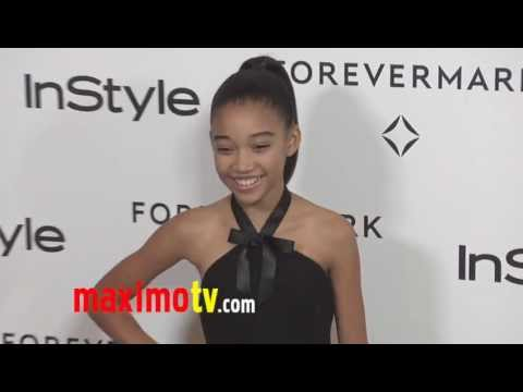 Amandla Stenberg THE HUNGER GAMES at Forevermark And InStyle Golden Globes 2012 Event