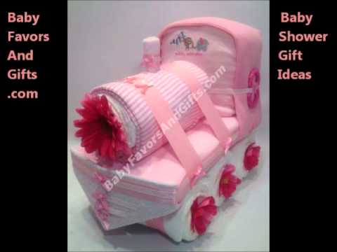 Train baby shower gift diaper cake youtube for Baby gift decoration ideas