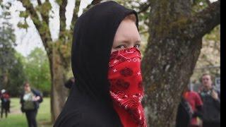 ANTIFA UNMASKING/EXPOSING - GIRL KICKS COP - PORTLAND OREGON
