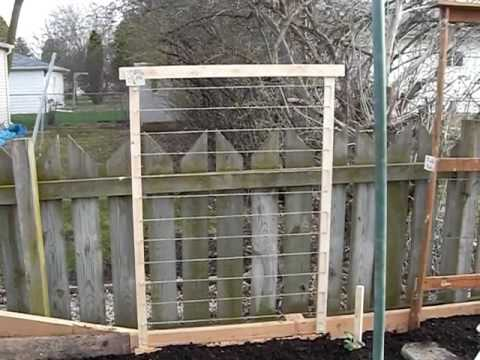 How To Build A Raised Garedn Bed For Peas Youtube