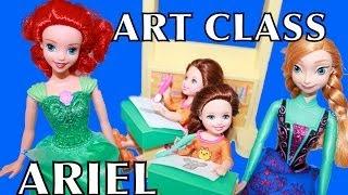 ART CLASS With Ariel The Little Mermaid Disney Frozen