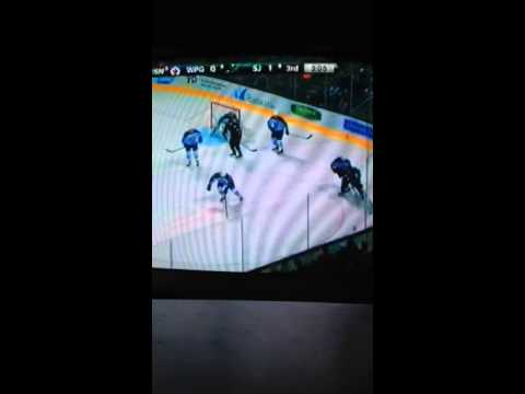 Winnipeg Jets vs San Jose Sharks 1/23/2014 part 9