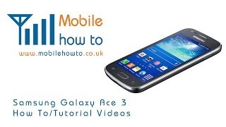 How To Delete Text/Picture/SMS Messages Samsung Galaxy Ace 3