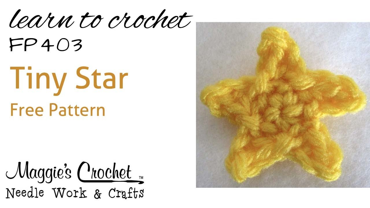 Crochet How to Free Pattern - Tiny Star - Right Handed ...
