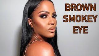 BROWN SMOKEY EYE MAKEUP TUTORIAL | MAKEUPSHAYLA