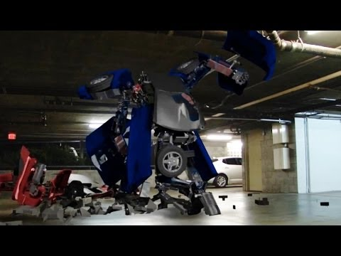 Transformers Fight Garage Scene