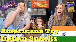 AMERICANS TRY INDIAN SNACKS