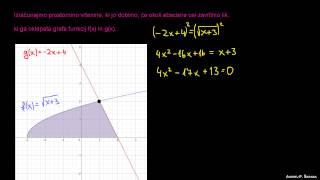 Prostornina vrtenine dveh funkcij