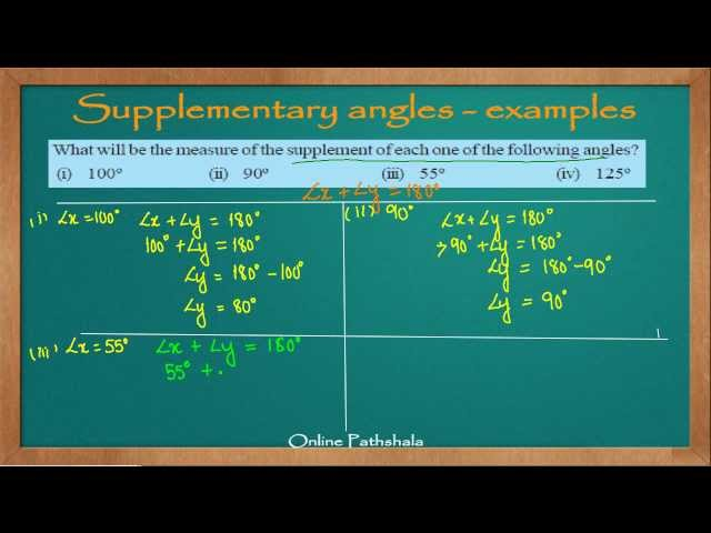 Ch05_06 Solved examples on Supplementary Angles - Part 1 CBSE MATHS