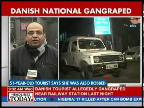 Delhi: 6 people questioned about Danish woman gangrape