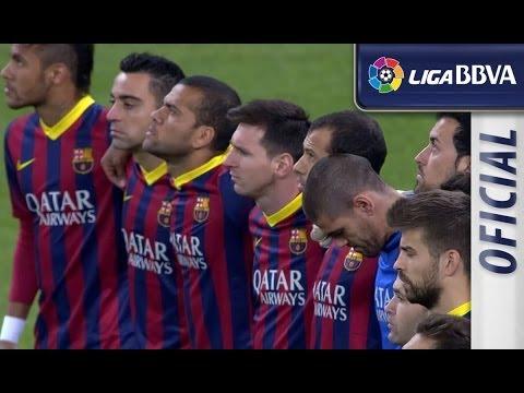 Minuto de silencio por Adolfo Suárez en el Bernabéu