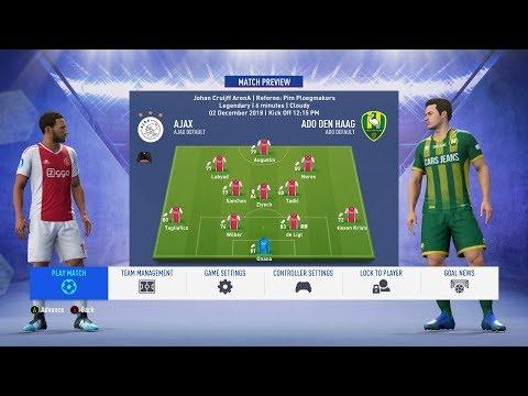 FIFA 19 - Ajax Vs ADO Den Haag - Career Mode #17 - Full Match - No Commentary