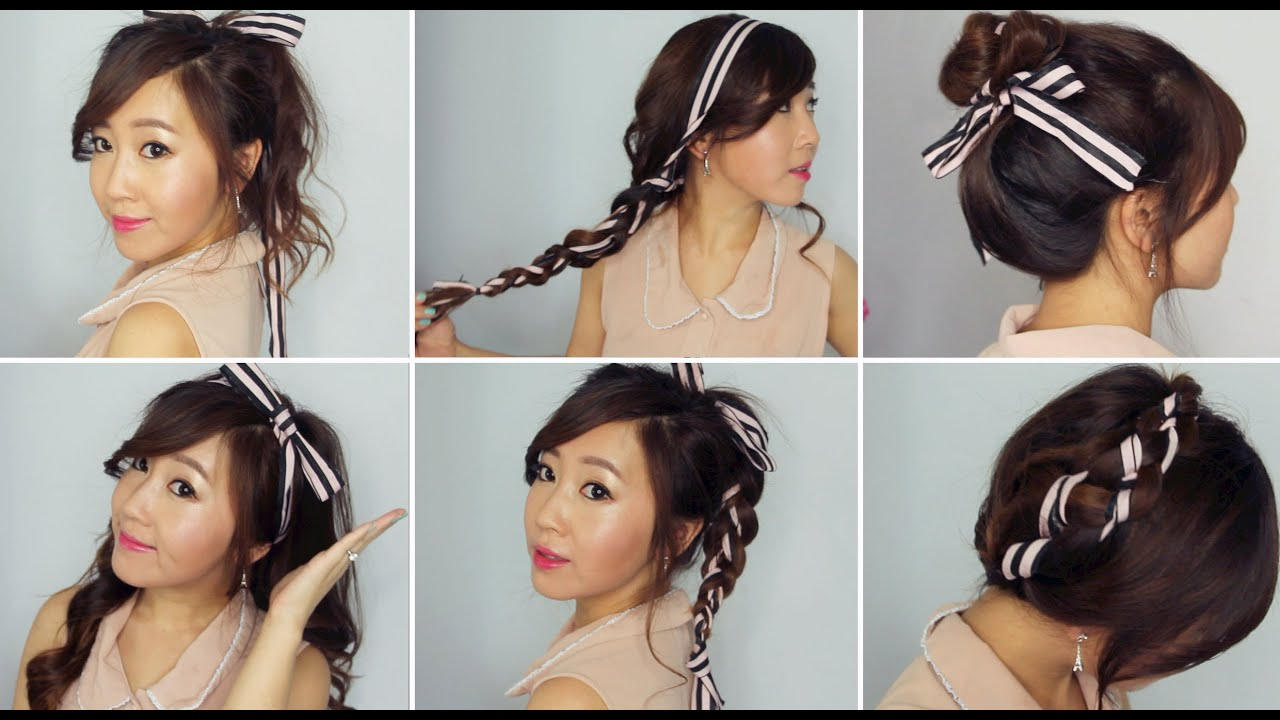Cute Hairstyles with Ribbon