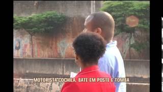 Motorista cochila, �nibus tomba e tr�s passageiros ficam feridos na Av. Tereza Cristina