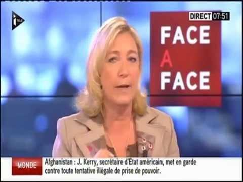 08-07-2014 - Marine Le Pen face à Christophe BARBIER