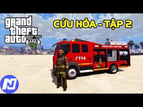 GTA 5 Firefighter Tập 2 - Chạy xe chữa cháy và làm lính cứu hỏa trong thành phố | ND Gaming