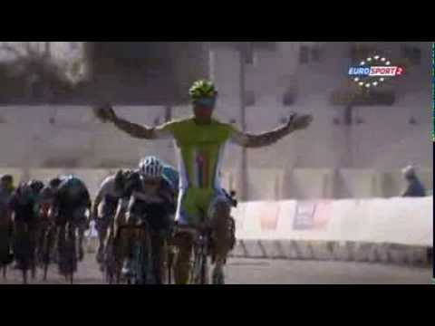 Stage 4 - Tour of Oman 2014 - bunny hop Peter Sagan (Eurosport)