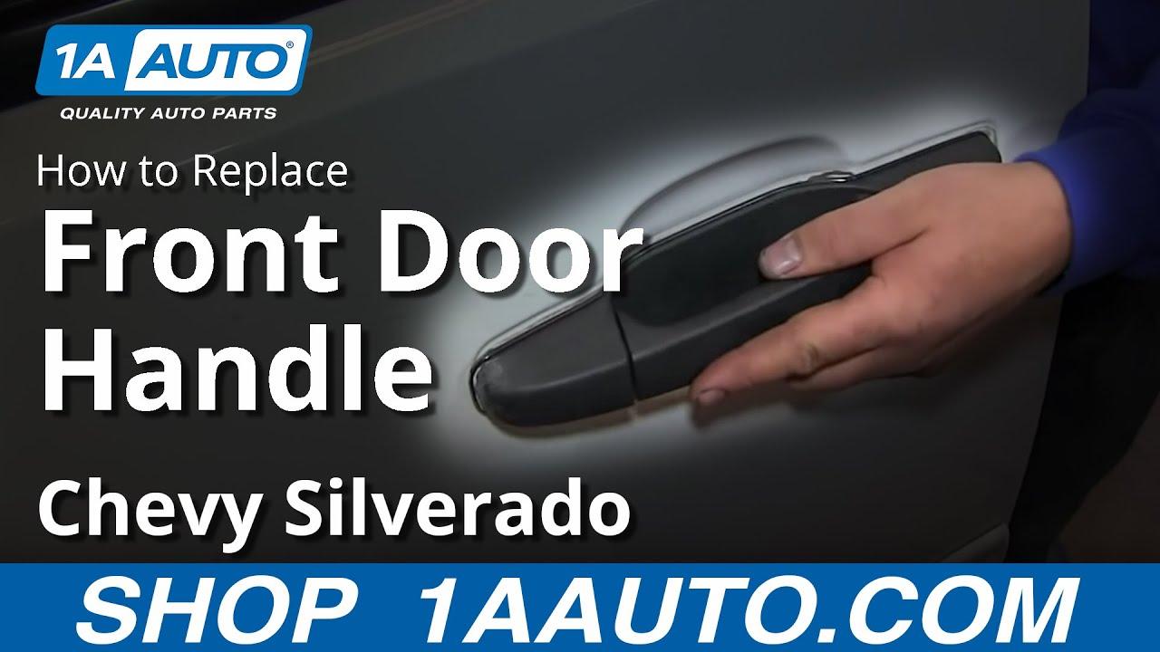 how to install repair replace broken outside door handle