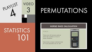 Statistics 101: Permutations