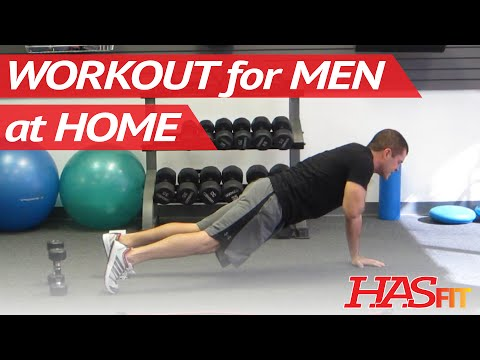 10 Minute Workout For Men At Home | Total Body Workout For Men | Cardio Routine | HASfit 102311