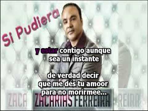 Zacarias Ferreira   Si Pudiera (karaoke)[Con Voz Original]