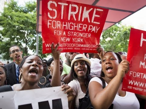 Fast Food Workers in 50 Cities Strike for Better Wages