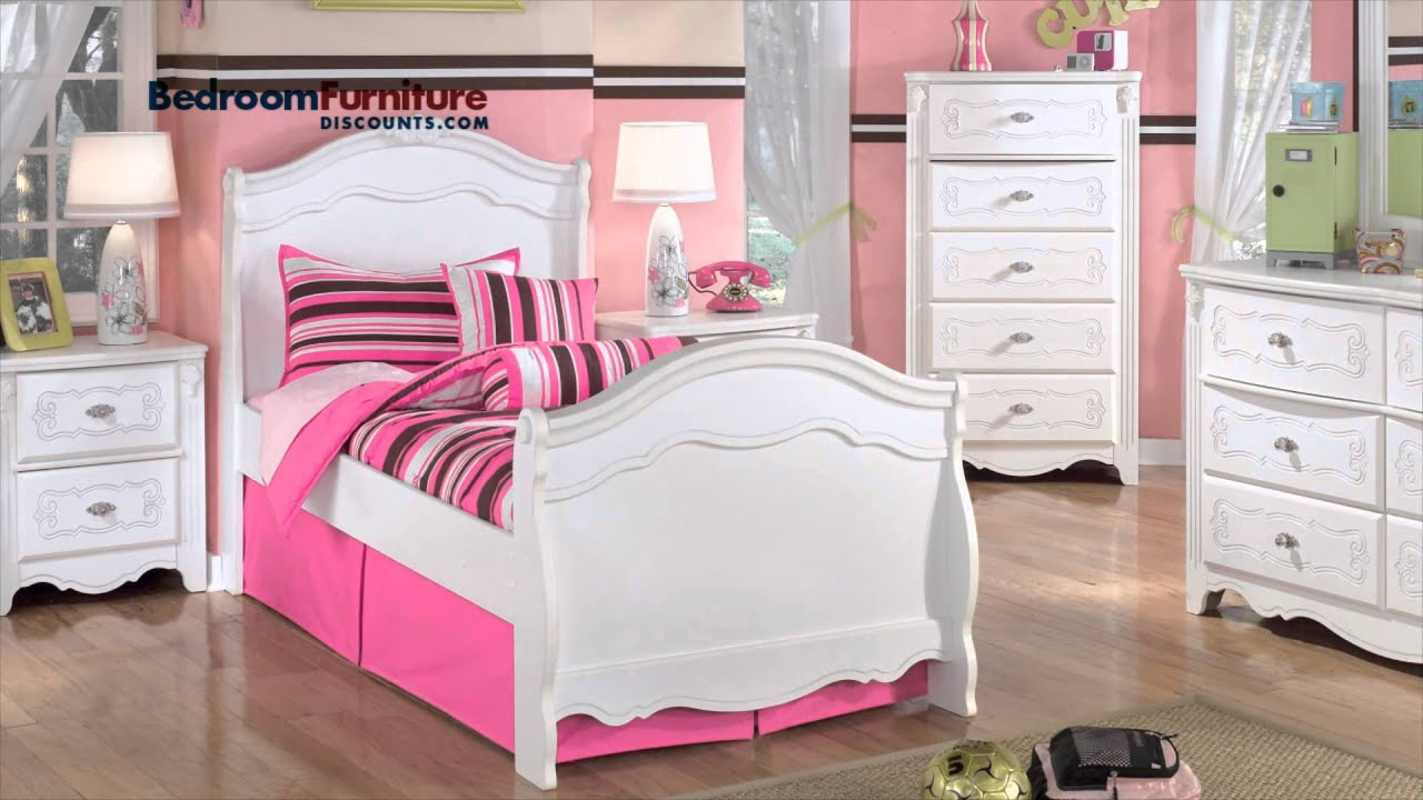 Ashley Exquisite Youth Bedroom Set - YouTube