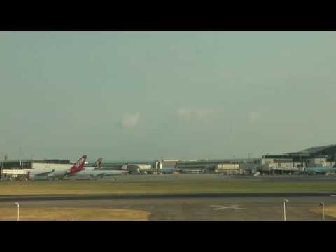 London Heathrow with ATC Radio (note about Longest Video London to Singapore)