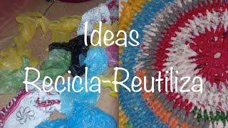 RECICLA BOLSAS DE PLASTICO / RECYCLE PLASTIC BAGS GANCHILLO CROCHET