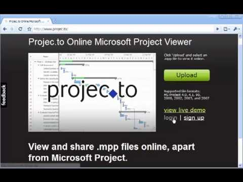 How to view mpp file without ms project online microsoft for Microsoft project viewer online