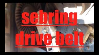 DIY How To Replace Install Alternator Ac Drive Belt 2005