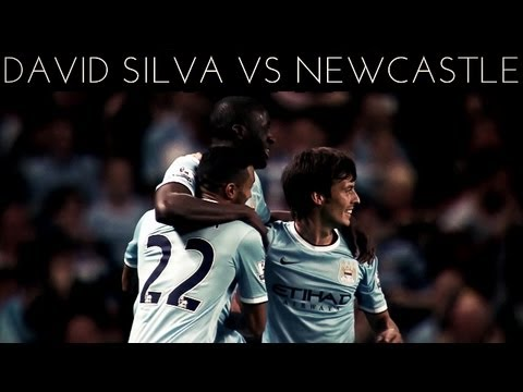 David Silva vs Newcastle (H) 2013-2014 EPL HD