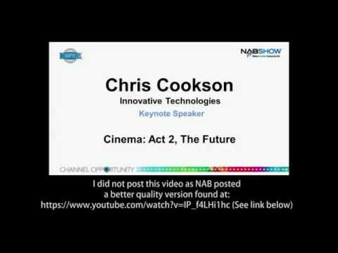 NAB 2014 - 1 - Chris Cookson, Keynote speaker Cinema Technology Summit