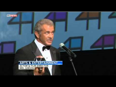 Mel Gibson received the Crystal Globe award