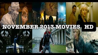 NEW FILM PREVIEWS: November 2013 Movies Mashup HD