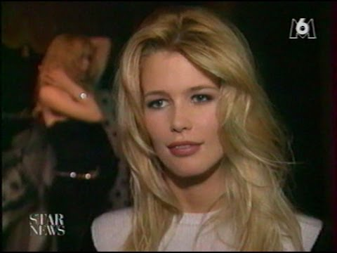 Claudia Schiffer  interview exclusive by Laurent Boyer on French TV in 90's