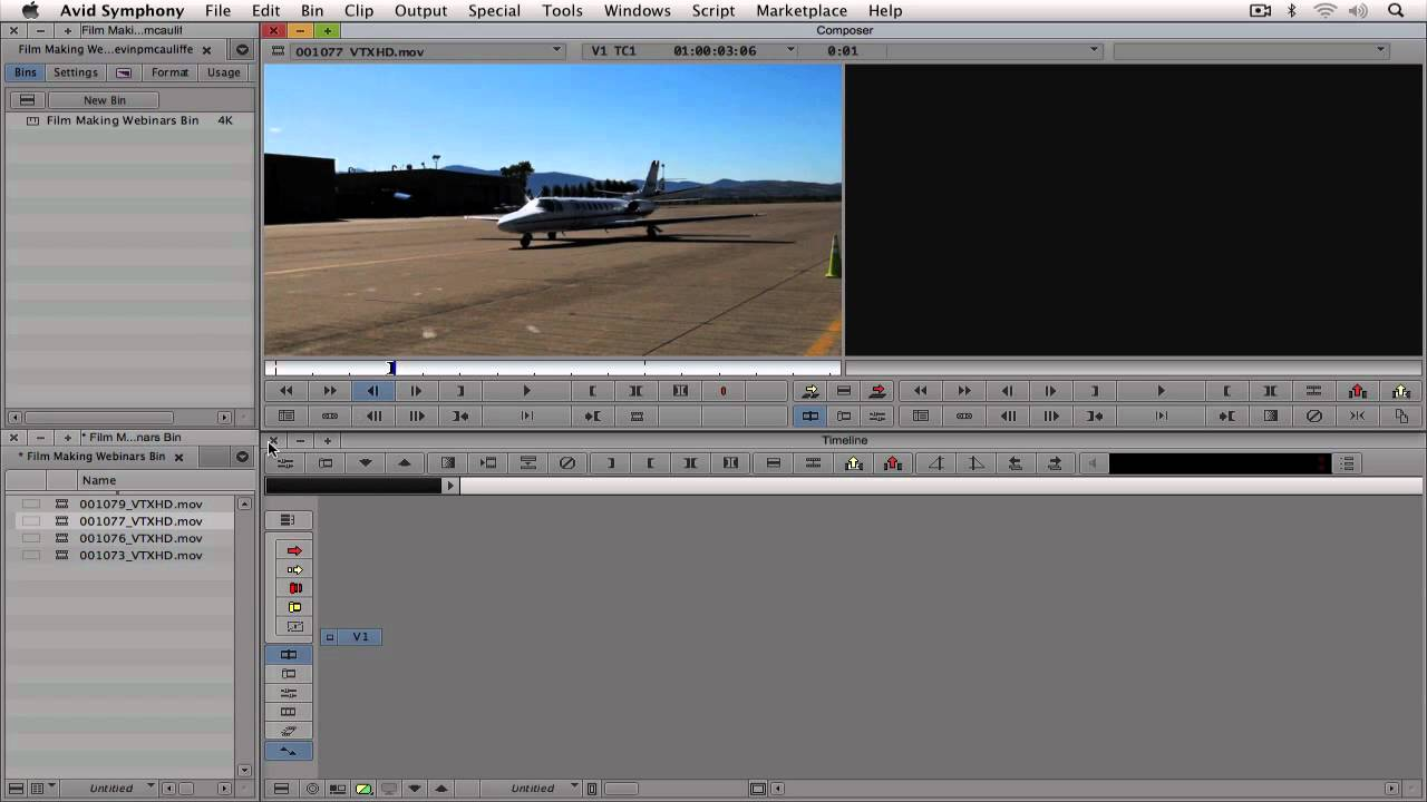 how to add a watermark avid media composer