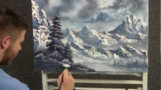 Paint With Kevin Hill Large Snowy Mountains Wet On Wet