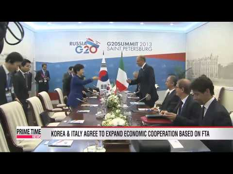 President Park holds bilateral talks with Italian Prime Minister  朴대통령, 하반기 '유럽외교' 스타트