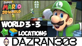 SUPER MARIO 3D WORLD | World 3-3 Green Stars & Stamp Locations | Gameplay/Commentary Dazran303 [HD]