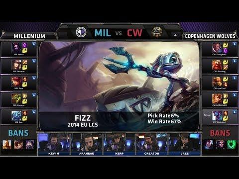 Millenium vs Copenhagen Wolves   Season 4 EU LCS Spring split 2014 W6D1 G1   MIL vs CW Full game HD