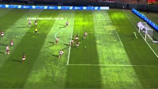 El increíble gol que no le cobraron a Colón. River 0 - Colón 0. 8vos. Copa Argentina. FPT.