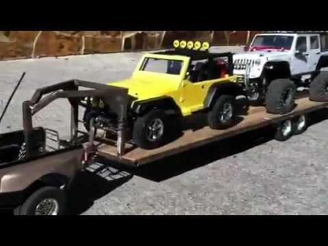 Rc Tamiya dually ford F-350 crew cab with tailer - YouTube