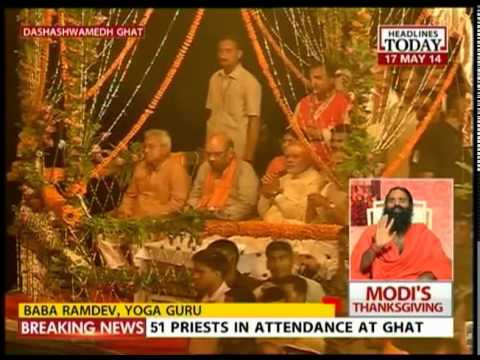 Modi performs puja & attends Ganga Arthi in Dashashvamedh Ghat-III