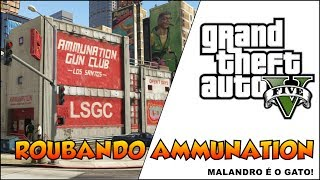 (PS3)GTA V DICAS COMO ASSALTAR O AMMUNATION NO GTA 5