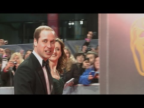 Prince William arrives at the BAFTAs 2014