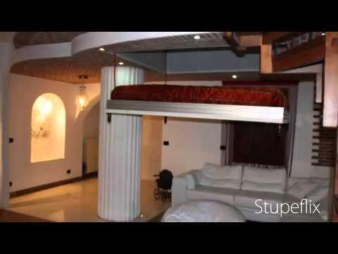 Il letto a scomparsa nel soffitto Bed Up Down - YouTube